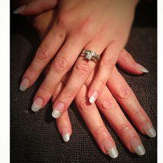 Wedding nails by Caz Overlay Nails, Shellac, Wedding Nails, Acrylic Nails, Engagement Rings, Enagement Rings, Wedding Rings, Acrylics, Diamond Engagement Rings