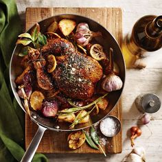 Herbed Roast Chicken with Lemon, Garlic and Red Onions | Williams-Sonoma