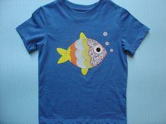 Camiseta con pez por LacasitadeCaperucita en Etsy