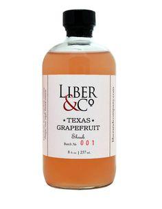 Liber & Co. Grapefruit Shrub cocktail mixer