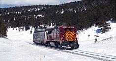 Meet Santa in your PJ's aboard The North Pole Express on the Rio Grande Scenic Railroad. #northpoleexpress #Colorado