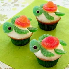Finding Nemo Birthday Ideas | Finding Nemo cupcakes! Great birthday idea. | Party Ideas