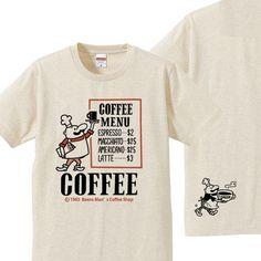 ビーンズマンのCOFFEE SHOP 150.160(女性S〜L)S〜XL Tシャツ 【受注生産品】
