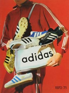 Cover of Adidas brochure, 1970/71. Via adidas archive