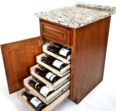 Wine Logic Wine Storage System, if only I had enough cabinet space to do this!