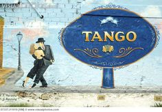 Argentina, Buenos Aires -  Tango painting