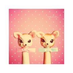Love deers in Pink TheMapleTeaHouse