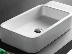 Check out the Grosseto Modern Ceramic x Rectangular Countertop Sink in Faucets & Fixtures, Kitchen Sinks from Click Basin for Steel Kitchen Sink, Stainless Steel Kitchen, New Kitchen, Sink Countertop, Countertops, Bathroom Sink Vanity, Master Bathroom, Diy Kitchen Remodel, Professional Kitchen