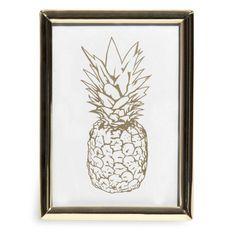 ZITA gold metal frame with pineapples | Maisons du Monde