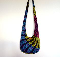 Hobo Bag Bohemian Tapestry Boho Bag Bright Colorful by 2LeftHandz, $33.50