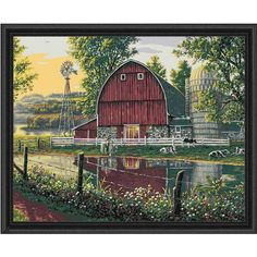 16X20/'/' DIY Paint By Number Kit Oil Painting On Canvas Plaid Mountain Hideaway !