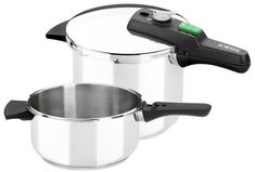 Monix Quick Set Duo of Pots Pressure 4 and Steel Stainless Stainless Steel Pressure Cooker, Stainless Steel Kitchen, Pots And Pans Sets, Induction Cookware, Pan Set, Cookware Set, Ebay, Lifestyle, Products