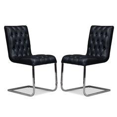Susie Black Chair Set