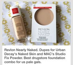 Reckon Nearly Naked is a dupe for Urban Decay Naked Skin and Mac Studio Fix powder