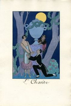 Illustrations by George Barbier taken from 'Falbalas et Fanfreluches pour ('Frills and Flounces for Published by Meynial. Glasgow School of Art. Poster Art, Art Deco Posters, Cool Posters, 1920s Art Deco, Art Deco Era, Glasgow School Of Art, Prints For Sale, Custom Framing, Find Art