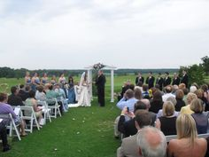 Wedding Ceremony On The Driving Range At Whitetail Ridge Golf Club In Yorkville Il