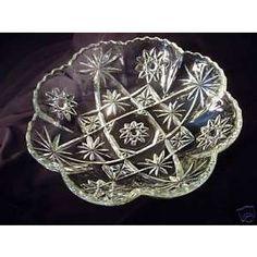 Antique Depression Glass EAPC Paneled Bowl Early American Prescut