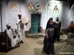 Scene from the Nubian Museum, Aswan, Egypt