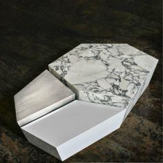 Threesome Coffee Table in Marble and Steel by Cristina Jorge De Carvalho - PHİLİNE Unique Coffee Table, Coffe Table, Coffee Table Design, Office Furniture Design, Table Furniture, Luxury Furniture, Antique Furniture, Calacatta Marble, Coffee Cocktails