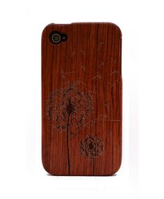 Dandelion Engraved Rosewood iPhone4/4s Wood Case