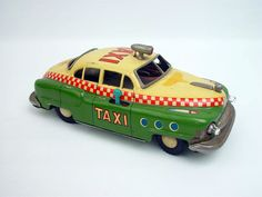 1950's Vintage Japanese Tin Taxi