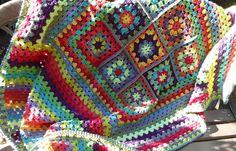 Blanket - Granny Square and Granny Stripe