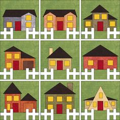 Be My Neighbor paper pieced by Sindy Rodenmayer