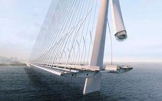 Zaha Hadid Architects gana concurso para diseñar nuevo puente de 960 metros en Taiwán,© Danjiang Bridge por Zaha Hadid Architects, render por VisualArch