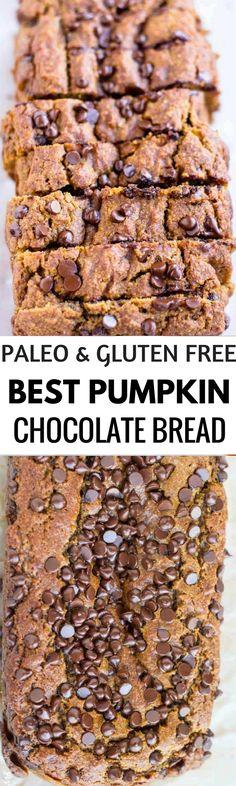 Easy Pumpkin Chocolate Chips bread. Grain free