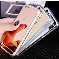 Rose Gold / Gold / Silver / Space Grey iPhone 7 Mirror Electroplating Cases
