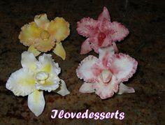 Tutorial: Orchidee in gum paste, come le faccio io: CATTLEYA ORCHID