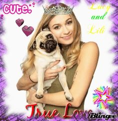 ♥True Love♥ Lucy&Lili♥♥ Love Lucy, True Love, Pugs, Youtubers, Lily, Real Love, Orchids, Pug Dogs, Lilies