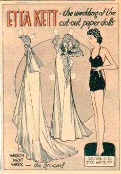 Etta Kett: The Wedding of the Cut-Out Paper Dolls, 1933  (1 of 1) from The Paper Collector