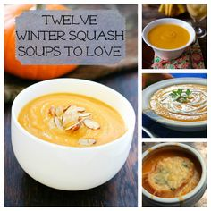 12 Winter Squash Soup Recipes; Dying for butternut squash lately