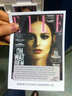 Reclame flyer voor het tijdschrift Elle