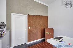 Gestaltung eines Arbeitsbereichs in Rost- und Betonoptik Bremen Tall Cabinet Storage, Design, Furniture, Home Decor, Painting Contractors, Work Spaces, Bremen, Wall Design, Creative Ideas