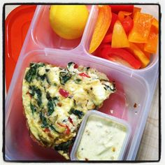 """""""Have extra veggies you need to use? Don't feel like spending hours cooking dinner? Then make a Veggie Drawer Frittata, and pack leftovers for lunch!"""" @EasyLunchboxes"""