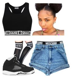 """""""Untitled #127"""" by trillest-fashion ❤ liked on Polyvore featuring Dimepiece, Retrò and Moschino"""