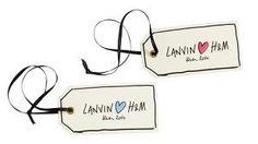 Tags from Lanvin for H