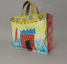 Mamie Joe - Handpainted Canvas Bag
