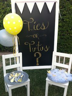 Ties or Tutus - LAURA'S little PARTY: Gender Reveal