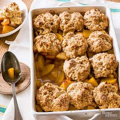 Peach cobbler is a delicious holiday recipe or for special occasions. Check out this recipe that will seriously impress your guests with homemade cobbler and fresh peaches. Learn how to make the perfectly crumbly topping and layer onto fruit.