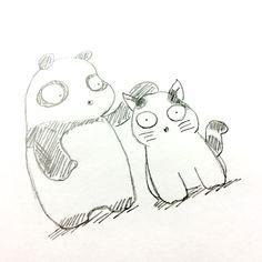 【一日一大熊猫】 2015.6.5 猫好きを集めて俳句と猫の旅番組を 昨日見たよ。 僕もちょいと遠出してみるかな。 #パンダ #猫 http://osaru-panda.jimdo.com
