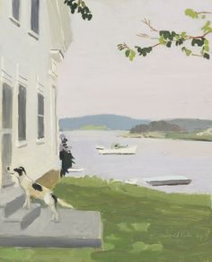 View The Dog at the Door by Fairfield Porter on artnet. Browse upcoming and past auction lots by Fairfield Porter. Fairfield Porter, Contemporary Landscape, Klimt, Landscape Paintings, Landscapes, Impressionist Paintings, Dog Paintings, Small Paintings, Abstract Landscape