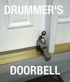 Drummer's doorbell