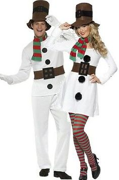 Couples Ladies Mens Snowman Christmas Festive Xmas Fancy Dress Costumes Outfits *** You can find out more details at the link of the image. (This is an affiliate link) Couples Fancy Dress, Christmas Dress Up, Tacky Christmas Sweater, Christmas Fancy Dress, Ugly Sweater Party, Christmas Costumes, Couple Halloween Costumes, Christmas Parties, Fancy Costumes