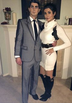 Hallowen Costume Couples Archer and Lana costume Feminist Halloween Costumes, Cute Couple Halloween Costumes, Funny Costumes, Halloween 2017, Diy Halloween Costumes, Halloween Cosplay, Cosplay Costumes, Halloween Party, Costume Ideas