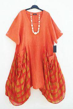 NEU Sarah Santos Traum Leinen Kleid Tunika Dress Tunic XL XXL 50 52 Lagenlook