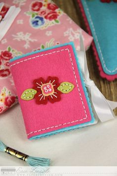 Simple Flower Needle Book by Erin Lincoln for Papertrey Ink (February 2015)