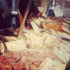 An array of fresh seafood at Rialto Market in #Venice - Got any photos like this and want to win an Urban Adventures giftcard? Click through and enter our #UAFresh competition before November 3rd!